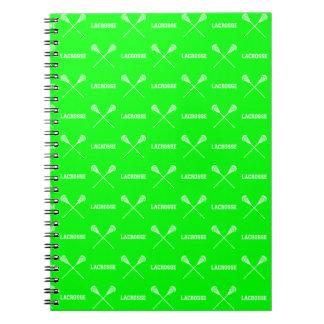 Cuaderno verde de los palillos de LaCrosse