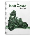 Cuaderno verde del diario de la danza del irlandés