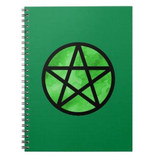 Cuaderno verde del pentáculo