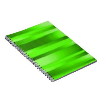 Cuaderno verde oscuro de la raya