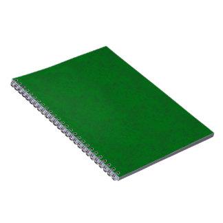 Cuaderno verde oscuro de la textura