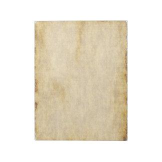 Cuaderno viejo del estilo del papel de pergamino blocs