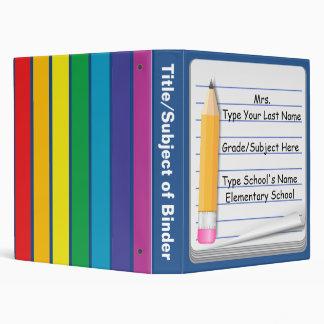 Cuaderno y lápiz - carpeta personalizada del