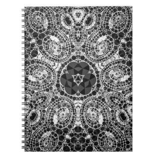 Cuadernos abstractos hermosos locos del modelo