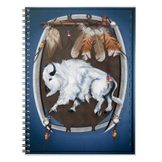 Cuadernos blancos del escudo del búfalo