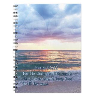 Cuadernos cristianos con escritura de la biblia