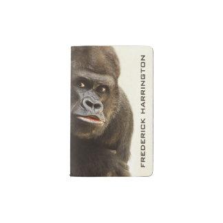 Cuadernos de encargo del monograma del gorila funda para libreta y libreta pequeña moleskine