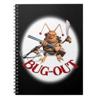 Cuadernos de la cucaracha del Insecto-Hacia fuera