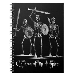 Cuadernos de los esqueletos del Hydra