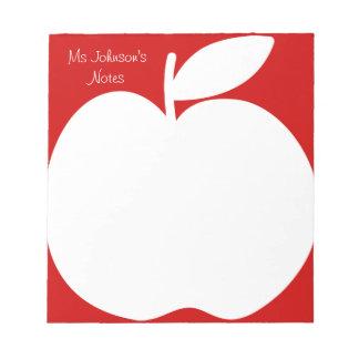 Cuadernos de notas de la escritura del rojo cereza libretas para notas