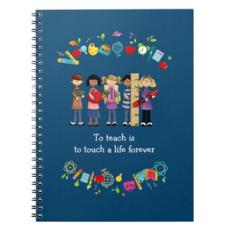 Cuadernos del regalo del aprecio del profesor