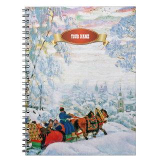 Cuadernos del regalo del navidad de la pintura de