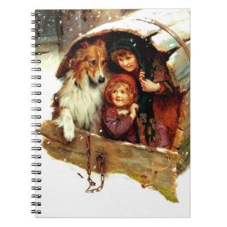 Cuadernos del regalo del navidad del arte del