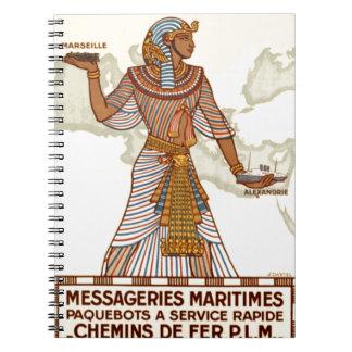 Cuadernos del viaje de Egipto del vintage