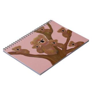 Cuadernos espirales del hábitat de las koalas