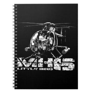 Cuadernos espirales del pequeño pájaro MH-6