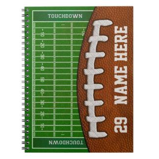 Cuadernos personalizados del fútbol su NOMBRE,