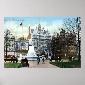 cuadrado 1898 de Londres Leicester del vintage del Impresiones