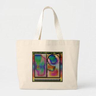 cuadrado abstracto avanzado del arte del li bolsa tela grande