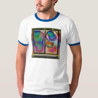 cuadrado abstracto avanzado del arte del li playera