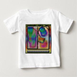 cuadrado abstracto avanzado del arte del li playera de bebé