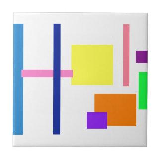 Cuadrado amarillo 2 azulejo cuadrado pequeño