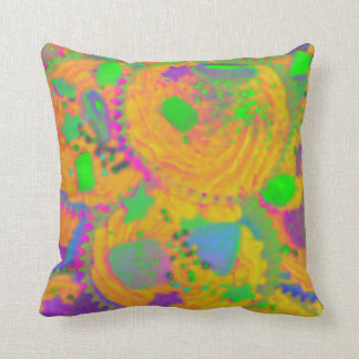 Cuadrado anaranjado de la almohada de tiro de las cojín decorativo