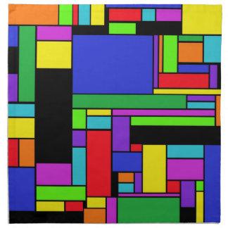 Cuadrado-Apagado colorido por JaguarJulie Servilletas De Papel