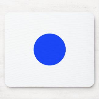 Cuadrado azul CircleTrans-3 del círculo el MUSEO Z Tapete De Raton