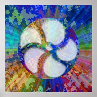 Cuadrado azul del espectro - artista NAVIN JOSHI Impresiones