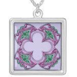 Cuadrado bejeweled Nouveau 2 del arte Colgantes Personalizados