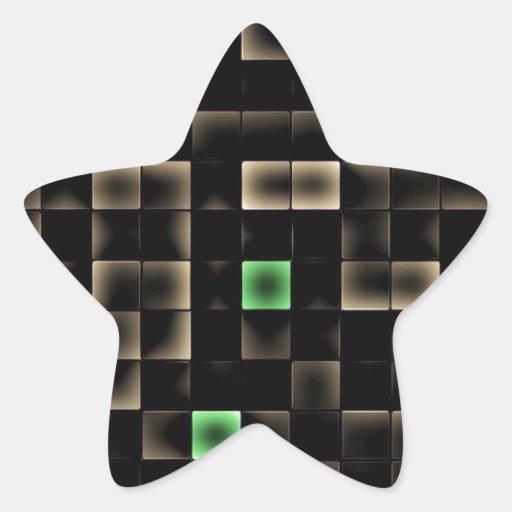 Cuadrado coloreado multi abstracto calcomanías forma de estrellaes