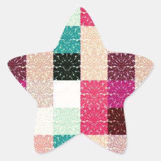 Cuadrado coloreado multi. Modelo geométrico Pegatina En Forma De Estrella
