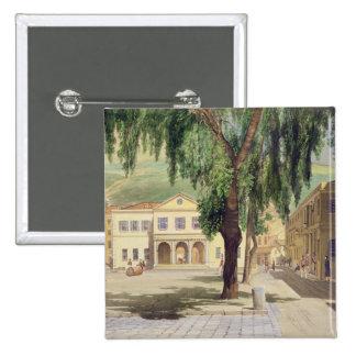 Cuadrado comercial, la biblioteca comercial y pin cuadrado