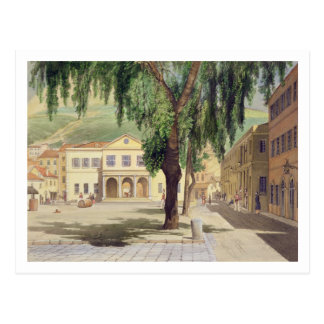 Cuadrado comercial, la biblioteca comercial y tarjetas postales