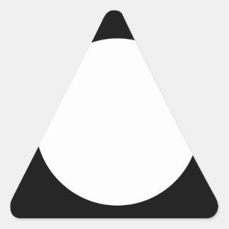 cuadrado con el círculo blanco pegatina triangular