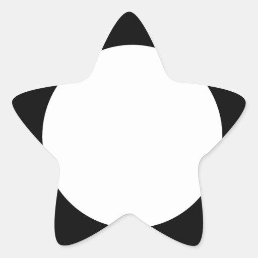 cuadrado con el círculo blanco pegatina en forma de estrella