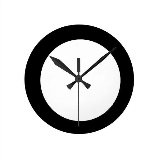 cuadrado con el círculo blanco relojes