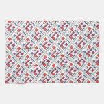 Cuadrado con formas geométricas - arte moderno toallas de cocina