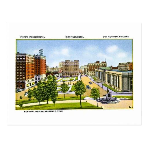 Cuadrado conmemorativo, Nashville, Tennessee Tarjeta Postal