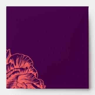 Cuadrado coralino rizado 311 de la púrpura del mel sobres