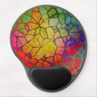 Cuadrado de cristal colorido alfombrillas de ratón con gel