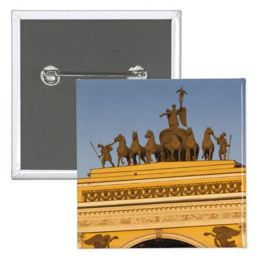 Cuadrado de Dvortsovaya, arco triunfal, puesta del Pins