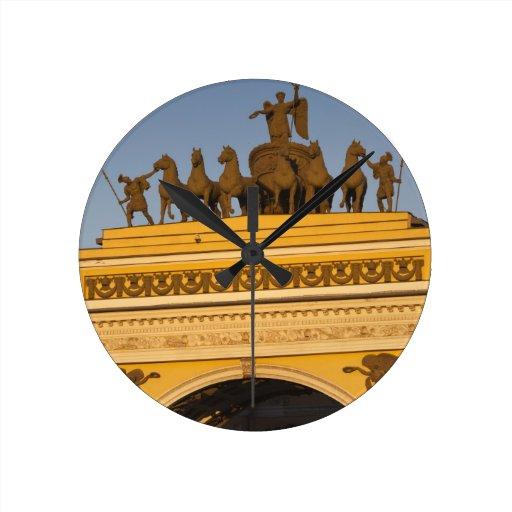 Cuadrado de Dvortsovaya, arco triunfal, puesta del Reloj De Pared
