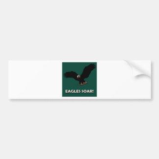 Cuadrado de Eagle del vuelo Pegatina De Parachoque