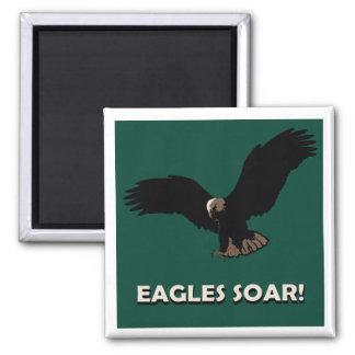 Cuadrado de Eagle del vuelo Imán De Nevera