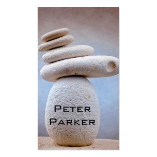 Cuadrado de equilibrio de las piedras + sus ideas tarjetas de visita