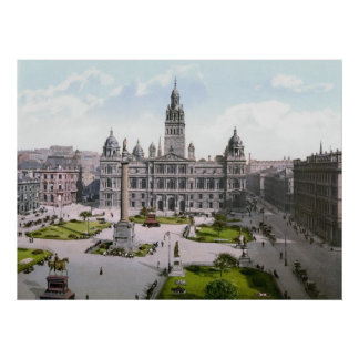 Cuadrado de Glasgow George Póster