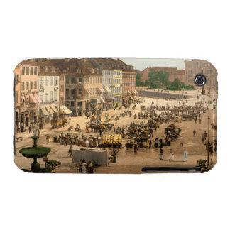 Cuadrado de Hochbrucke, Copenhague, Dinamarca iPhone 3 Fundas