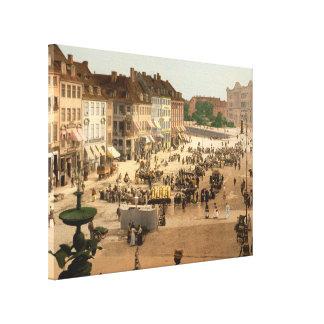 Cuadrado de Hochbrucke Copenhague Dinamarca Lienzo Envuelto Para Galerias